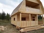 Дома из бруса Артем 6×8 с установка в Светлогорском р-не