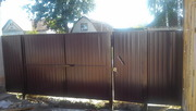 Распашные ворота для дачи с калиткой